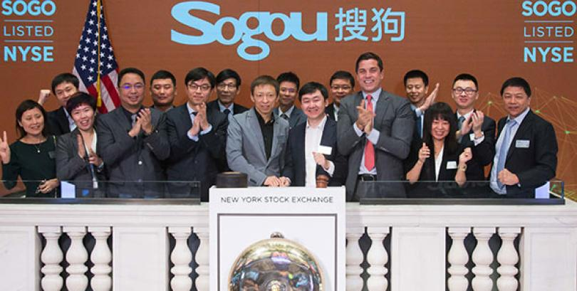 With eye on AI, Sogou debuts on New York Stock Exchange