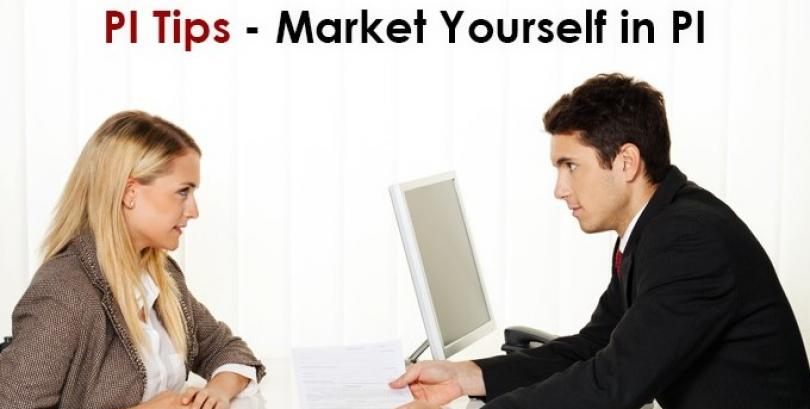 Market yourself in PI