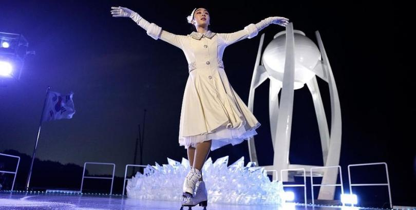 Kim Yu-na in PingChuang Opening Ceremony of 2018 Winter Olympic Games