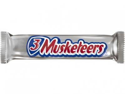 Vintage 3 Musketeers Chocolate..