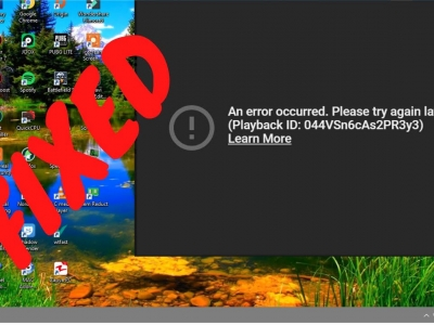 Is There A Way To Fix YouTube An Error Occurred Playback ID?