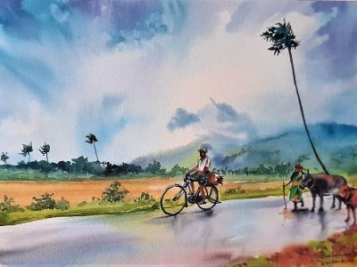 Landscape painting for home sp..