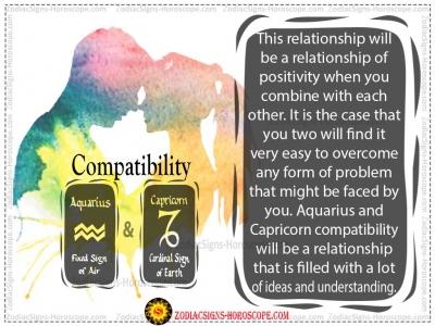 Aquarius and Capricorn  Compat..
